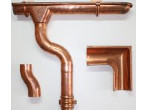 Copper rainwater drainage system